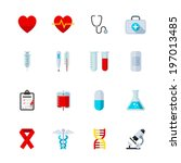 medical icons   flat icon set... | Shutterstock .eps vector #197013485