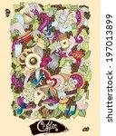 coffee doodles sketch. coffee...   Shutterstock .eps vector #197013899