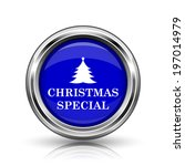 christmas special icon. shiny...   Shutterstock . vector #197014979