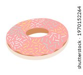 doughnuts with chocolate glaze...   Shutterstock .eps vector #1970152264