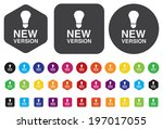 new version button | Shutterstock .eps vector #197017055