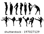 vector silhouette of a people... | Shutterstock .eps vector #197027129