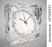 Frozen In Clock  Time Concept...