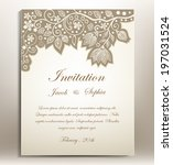 floral hand draw wedding... | Shutterstock .eps vector #197031524