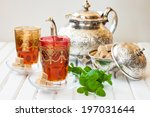 moroccan tea with mint and...   Shutterstock . vector #197031644