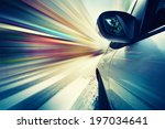 abstract car driving in city ... | Shutterstock . vector #197034641