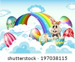 illustration of a king bunny at ... | Shutterstock . vector #197038115