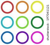 illustration of the nine... | Shutterstock . vector #197041121