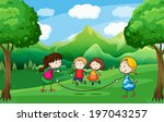 illustration of the four kids... | Shutterstock . vector #197043257