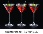 Martini Glasses With Olive And...