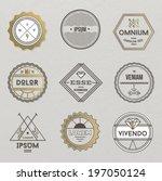 set of hipster vintage retro...   Shutterstock .eps vector #197050124