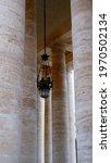 Doric Colonnade Of Saint Peter Basilica
