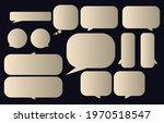 set speech bubble on a dark...   Shutterstock .eps vector #1970518547
