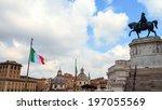monumento vittorio emanuele ii... | Shutterstock . vector #197055569