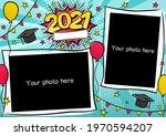 photo frame for class of 2021... | Shutterstock .eps vector #1970594207