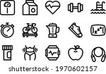 fitness and healthy life icons...   Shutterstock .eps vector #1970602157