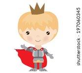 cute vector knight illustration | Shutterstock .eps vector #197060345
