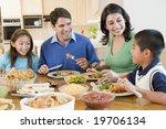 Family Enjoying Meal Mealtime...