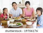 family enjoying meal mealtime... | Shutterstock . vector #19706176