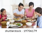 family enjoying meal mealtime... | Shutterstock . vector #19706179