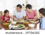 family enjoying meal mealtime... | Shutterstock . vector #19706182