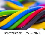 closeup of a three phase... | Shutterstock . vector #197062871