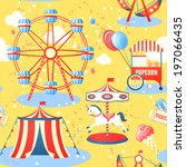 amusement entertainment park... | Shutterstock . vector #197066435