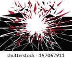silhouette of shattered... | Shutterstock .eps vector #197067911