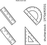 ruler icon set isolated on... | Shutterstock .eps vector #1970690531
