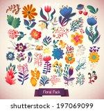 set of elegance flowers  ... | Shutterstock .eps vector #197069099