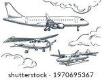 planes collection  vector...   Shutterstock .eps vector #1970695367