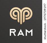 abstract vector horns ram... | Shutterstock .eps vector #1970739197