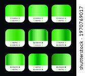 green gradients swatches set...