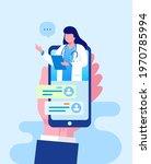 online doctor health care... | Shutterstock .eps vector #1970785994