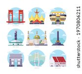 famous indonesia landmarks flat ... | Shutterstock .eps vector #1970806211