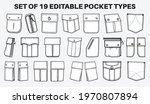patch pocket flat sketch vector ... | Shutterstock .eps vector #1970807894