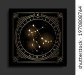 gemini zodiac constellation...   Shutterstock .eps vector #1970808764