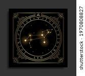 leo zodiac constellation symbol ... | Shutterstock .eps vector #1970808827