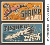Fresh Shrimps Seafood  Fishing...
