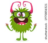 happy cartoon monster....   Shutterstock .eps vector #1970856521