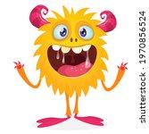 happy cartoon monster....   Shutterstock .eps vector #1970856524
