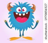 happy cartoon monster....   Shutterstock .eps vector #1970856527