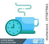 coffee break icon in flat style ... | Shutterstock .eps vector #1970879861