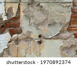 Old Brick Concrete Wall Texture....