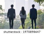 rear view of three young... | Shutterstock . vector #1970898647