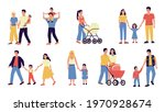 families. parents and kids... | Shutterstock .eps vector #1970928674