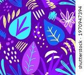 tropical leaves seamless... | Shutterstock .eps vector #1970947394