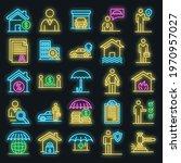 insurance agent icons set.... | Shutterstock .eps vector #1970957027