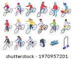 kids cycling icons set.... | Shutterstock .eps vector #1970957201