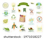 collection of ecology stickers... | Shutterstock .eps vector #1971018227